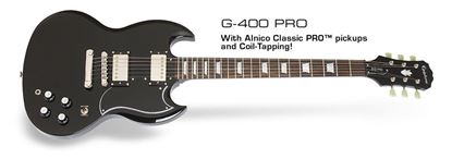 Picture of Epiphone SG G-400 PRO Electric Guitar (Ebony)