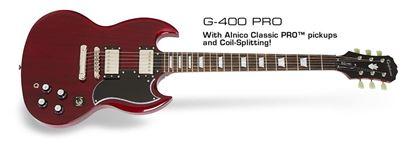 Epiphone SG G-400 PRO Electric Guitar (Cherry)