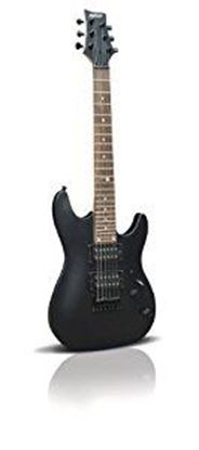 Ashton Joey Backstage Mini Electric Guitar (Black Gloss)