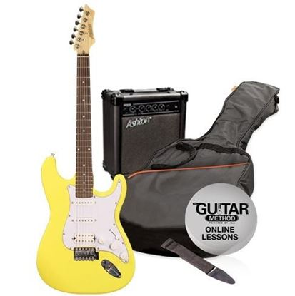 Picture of Ashton Electric Guitar Pack + Amp (Yellow)