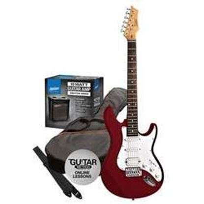 Ashton Electric Guitar Pack + Amp (Red)