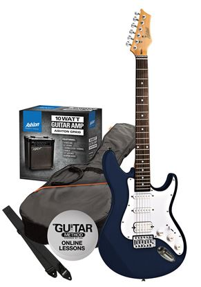 Picture of Ashton Electric Guitar Pack + Amp (Dark Blue)