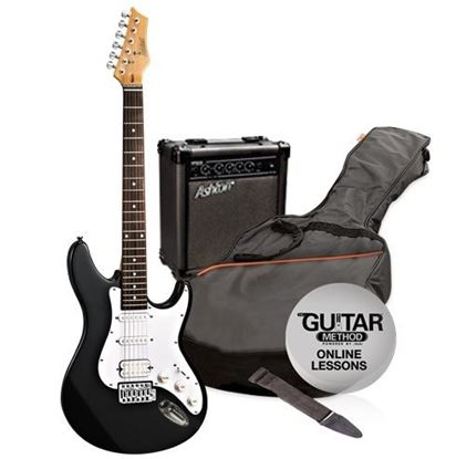 Picture of Ashton Electric Guitar Pack + Amp (Black)