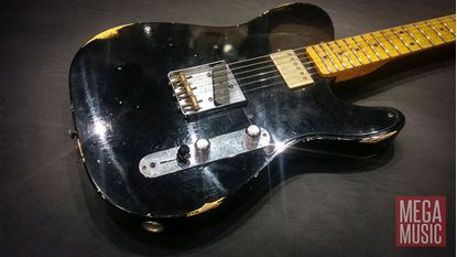Fender Custom Shop 1952 Telecaster HS Limited Edition Series Electric Guitar (Aged Black Over Nocaster Blonde)