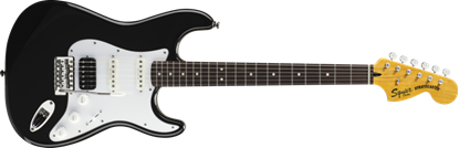 Picture of Squier Vintage Modified Stratocaster HSS Rosewood Fingerboard Black