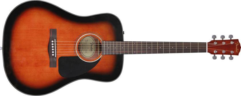 fender cd 60 acoustic guitar sunburst with case cd60 perth mega music online. Black Bedroom Furniture Sets. Home Design Ideas