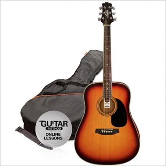 Ashton SPD25CEQTSB Acoustic Guitar Sunburst Starter Pack
