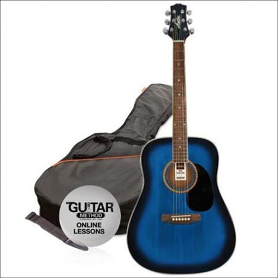 Ashton SPD25CEQTBB Acoustic Guitar Blue Starter Pack
