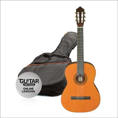 Ashton SPCG44AM - Full Size Classical Guitar Starter Pack - Left Handed Amber