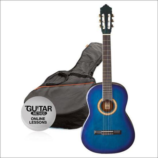Ashton SPCG34TBB - 3/4 Size Classical Guitar Starter Pack - Blue