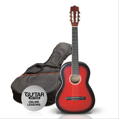 Ashton SPCG14TRB - 1/4 Size Classical Guitar Starter Pack - Red