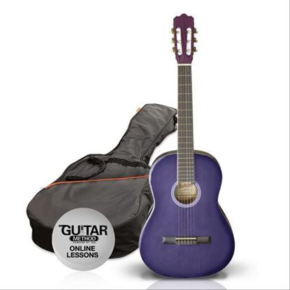 Ashton SPCG14TP - 1/4 Size Classical Guitar Starter Pack - Purple