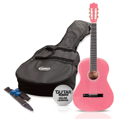 Picture of Ashton SPCG14PK - 1/4 Size Classical Guitar Starter Pack - Pink