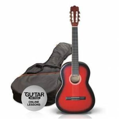 Ashton SPCG12TRB - 1/2 Size Classical Guitar Starter Pack - Red