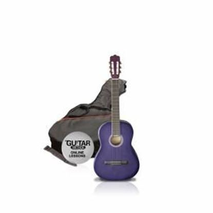 Ashton SPCG12TP - 1/2 Size Classical Guitar Starter Pack - Purple