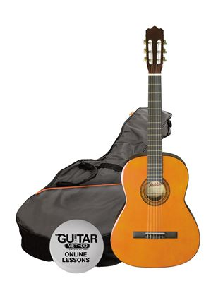 Ashton SPCG12AM - 1/2 Size Classical Guitar Starter Pack - Amber