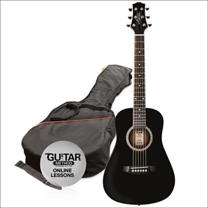Ashton Joeycoustic 3/4 Acoustic Guitar Starter Pack - Black