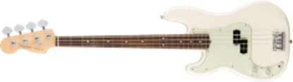 Fender American Professional Precision Bass Guitar Left-Hand, RW, Olympic White