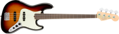 Fender American Professional Jazz Bass Guitar Fretless, RW, 3-Color Sunburst