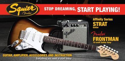 Squier Strat with Frontman 10G Amplifier Pack Sunburst
