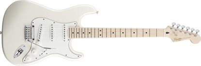 Squier Deluxe Stratocaster Electric Guitar Maple Neck Pearl White