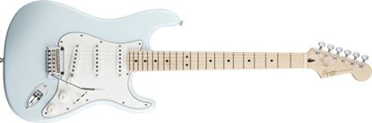 Squier Deluxe Stratocaster Electric Guitar Maple Neck Daphne Blue