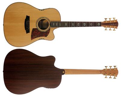 Picture of Cole Clark Fat Lady 3 Series Acoustic Guitar (Bunya/Maple Silkwood)