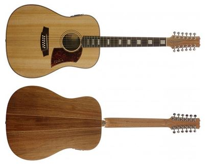 Cole Clark Fat Lady 2 Series Acoustic Guitar with Pickup 12 String (Bunya/Blackwood)