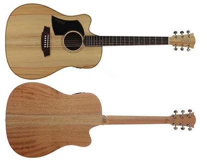 Cole Clark Fat Lady 1 Series Acoustic Guitar with Pickup - Left Handed (Bunya/Maple)