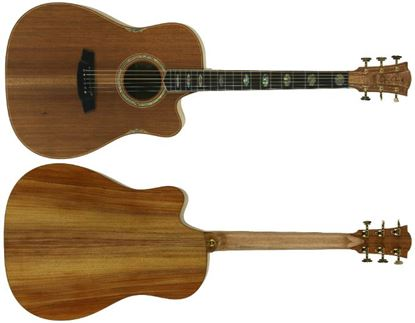 Cole Clark Fat Lady 3 Acoustic Guitar - All Blackwood (CCFL3ECBLBL)