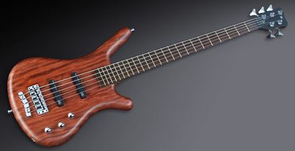 Warwick Corvette 5 Bass Guitar Natural Satin Active Bubinga