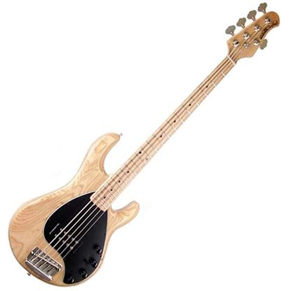 Ernie Ball Music Man StingRay 5 Electric Bass Guitar - Natural Gloss w Maple Fingerboard