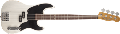 Fender Mike Dirnt Road Worn Precision Bass Guitar RW, White Blonde