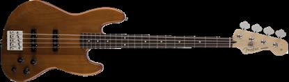 Fender Deluxe Active Jazz Bass Guitar RW, Natural Okoume