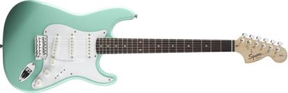 Squier Affinity Stratocaster Electric Guitar Rosewood Neck Surf Green