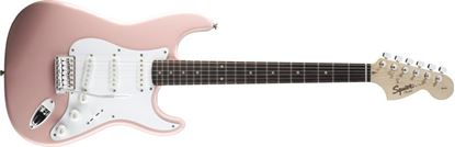 Squier Affinity Stratocaster Electric Guitar Rosewood Neck Shell Pink
