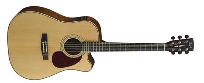 Cort MR-710F Dreadnought Acoustic Guitar With Cutaway and Solid Spruce Top
