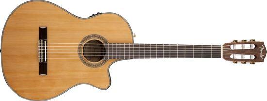 Fender CN-240SCE Thinline Classical Guitar - Natural