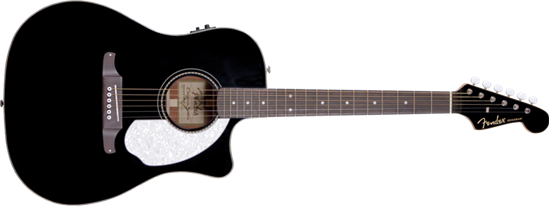 Fender Sonoran SCE Cutaway Dreadnought Acoustic Guitar Black