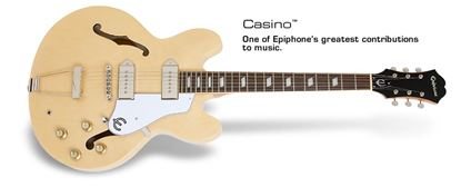 Epiphone Casino Electric Guitar (Natural)