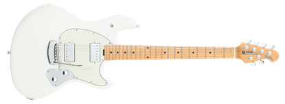 Ernie Ball Music Man StingRay HH Electric Guitar Tremolo MN, Ivory White