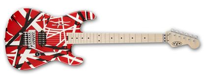 EVH Striped Series Electric Guitar Red w Black &White Stripes