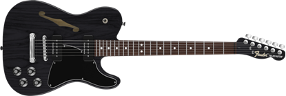 Picture of Fender Jim Adkins JA-90 Ash Telecaster Thinline Ebony Transparent