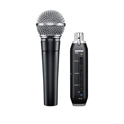 Shure SM58 Vocal Microphone w X2U USB Adapter