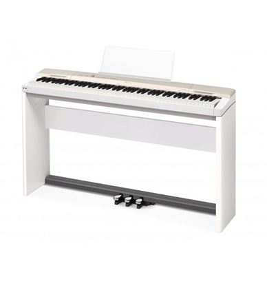 Casio PX-160 Privia Digital Piano, White with Stand and Seat (PX160)