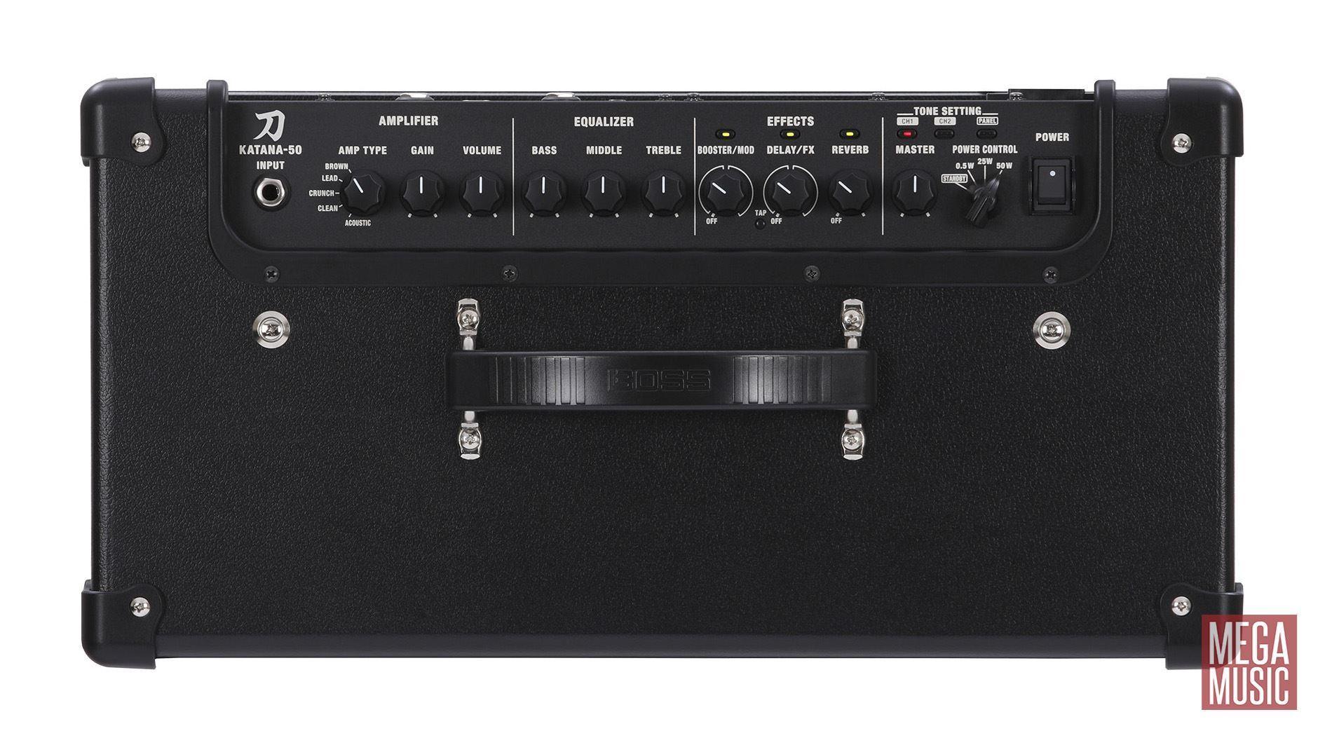 Boss Katana-50 Guitar Amplifier Combo - Top
