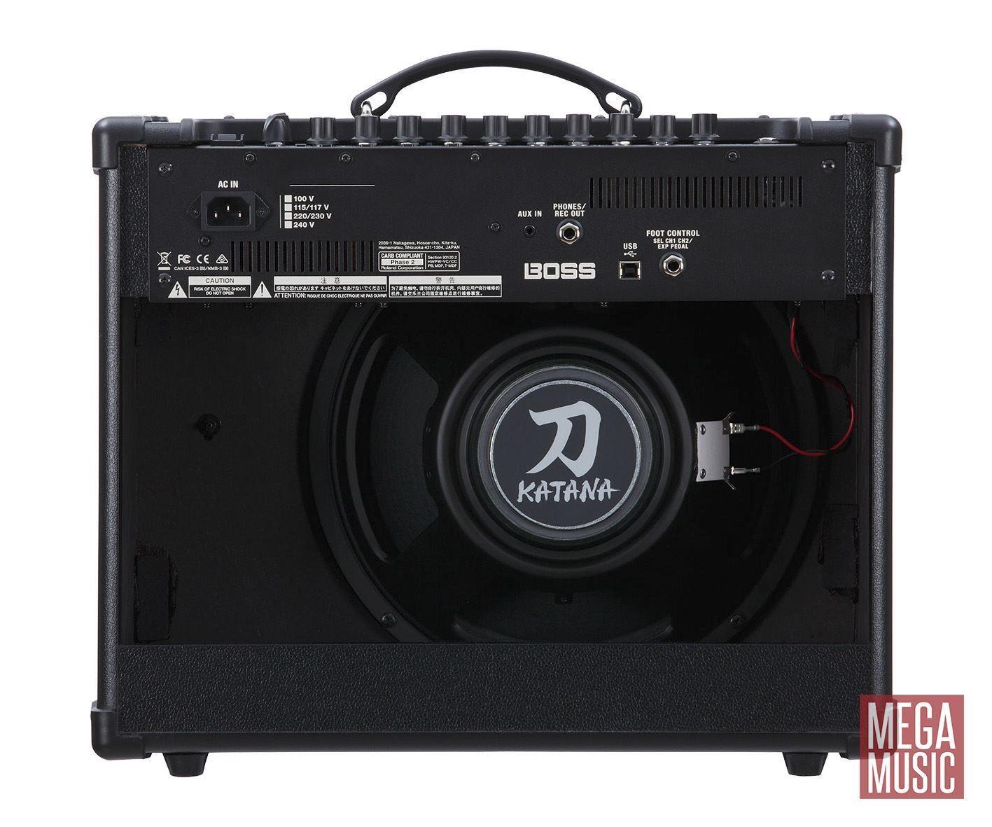 Boss Katana-50 Guitar Amplifier Combo - Back