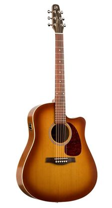 Picture of Seagull Entourage Rustic Acoustic Guitar with Cutaway and QI Pickup