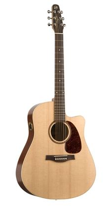 Picture of Seagull Acoustic Guitar - Coastline S6 Slim Cutaway Spruce with QI