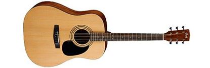 Cort AP810 Acoustic Guitar in Satin Natural - Pack with Bag, Pipe, Picks and DVD